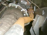 Homemade exhaust system for the V8 diesel